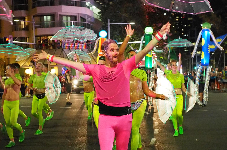 Irish revellers at the Sydney Mardi Gras.
