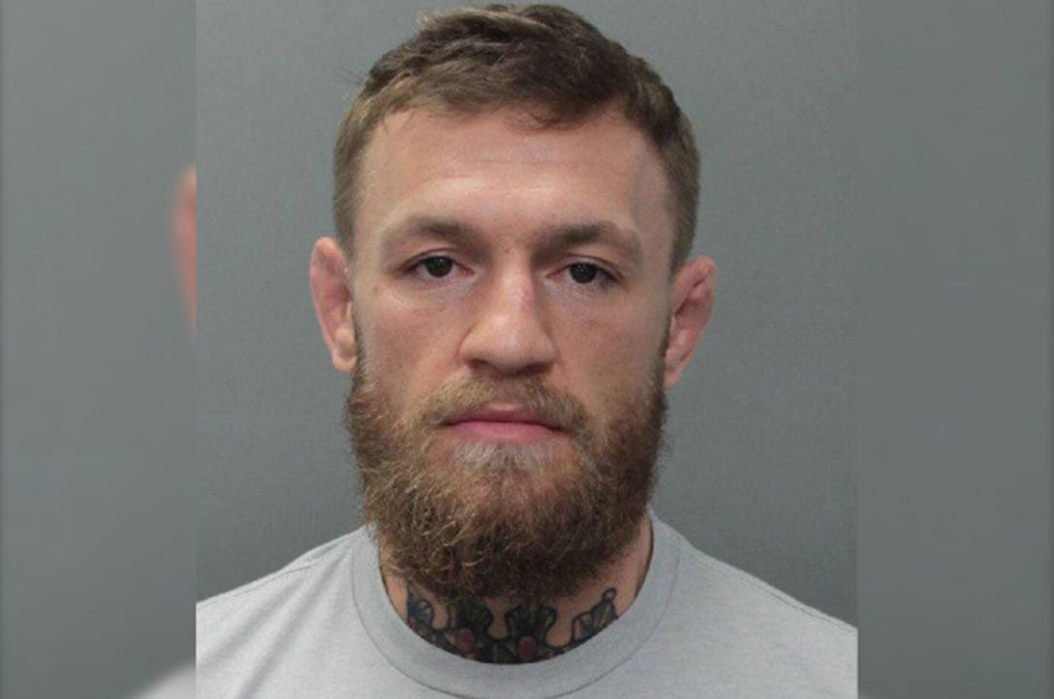 Conor McGregor's mug shot from Miami police.