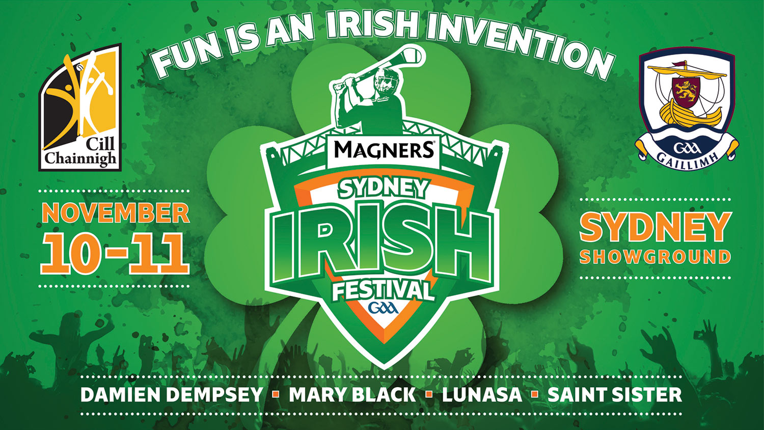 An ad for last November's Sydney irish Festival which ran into problems over poor ticket sales.