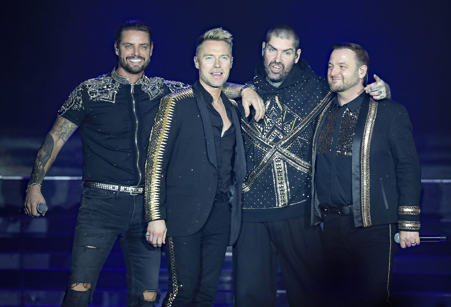 Boyzone on stage in Belfast in January at the start of their Thanks You & Goodnight tour.