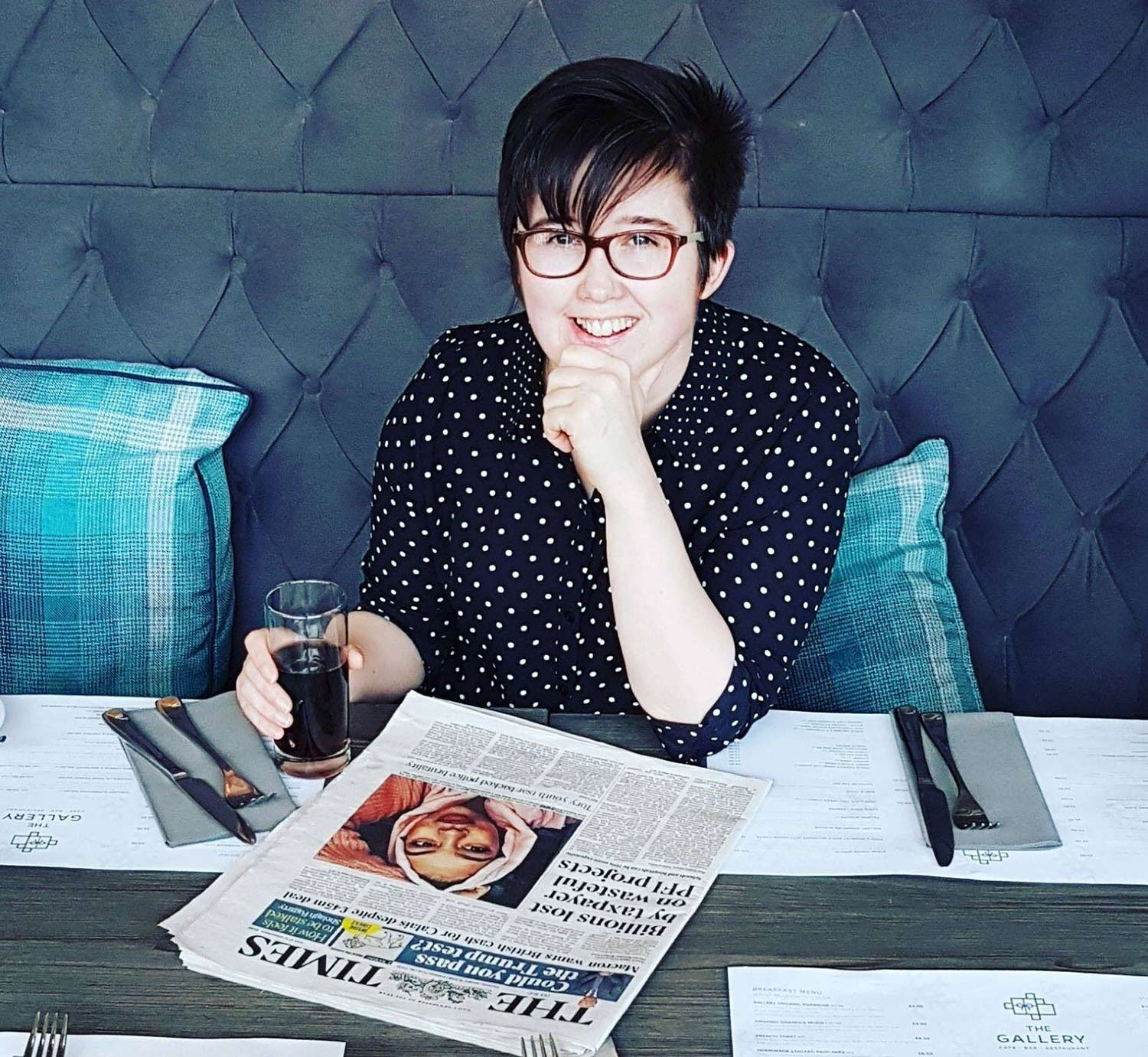 Journalist Lyra McKee who was shot and killed by Republican dissidents in Derry.