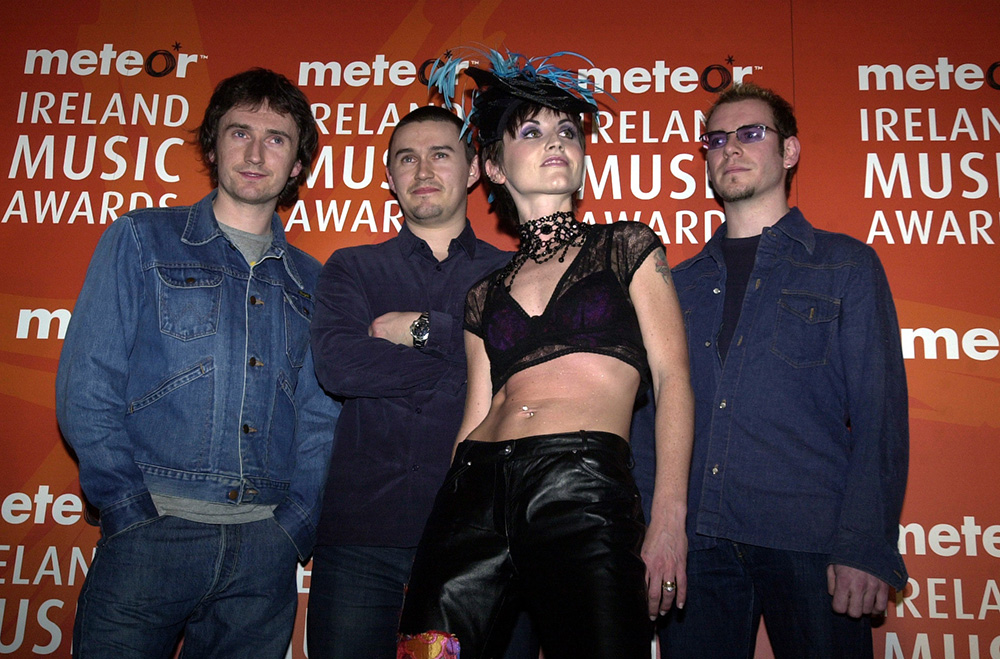 The Cranberries at the height of their popularity in 2003. (From left) Noel Hogan, Mike Hogan, Dolores O'Riordan and Fergal Lawler.