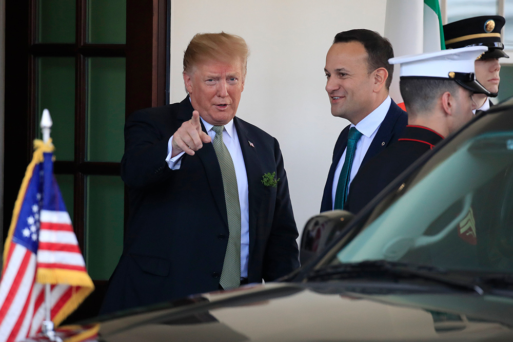 US President Donald Trump and Taoiseach Leo Varadkar in Washington DC in March.