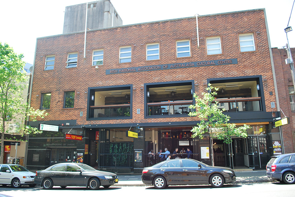 The Gaelic Club occupies the top level of 64 Devonshire St in Surry Hills.