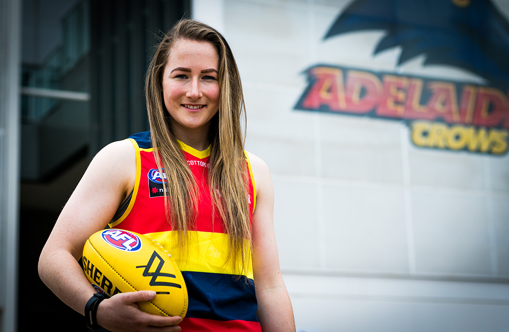 Ailish Considine made history in April when she became the first Irish woman to win an AFLW Premiership with the Adelaide Crows.