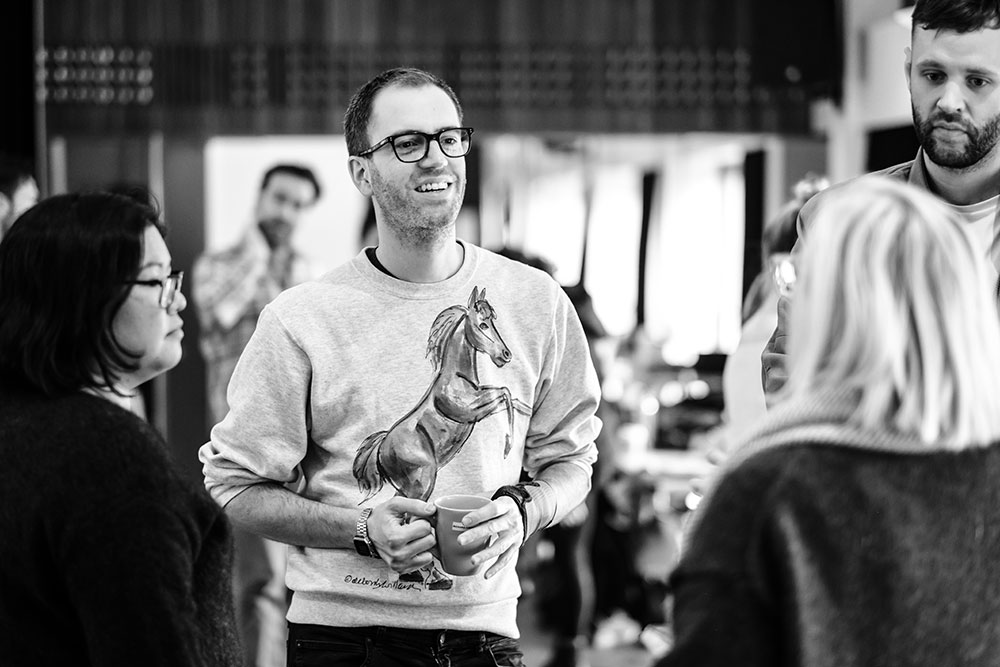 Director Richard Carroll runs Once rehearsals. Picture: Robert Catto.