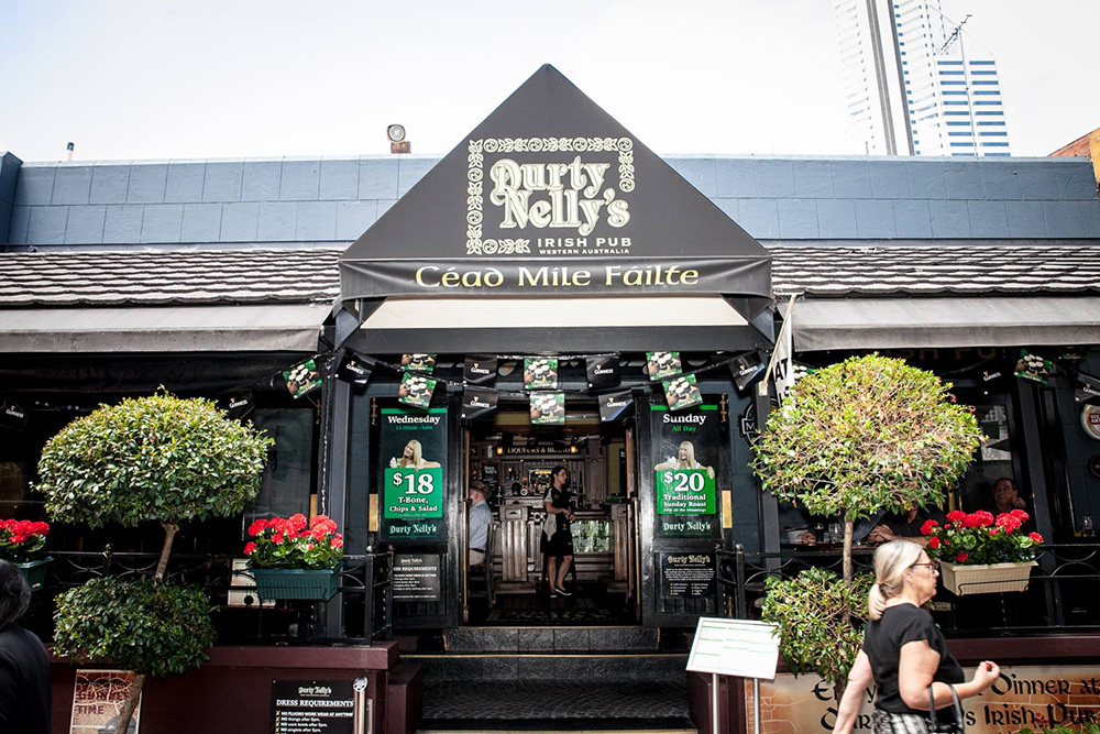 Durty Nelly's in Perth is the top Guinness Australian outlet for May.