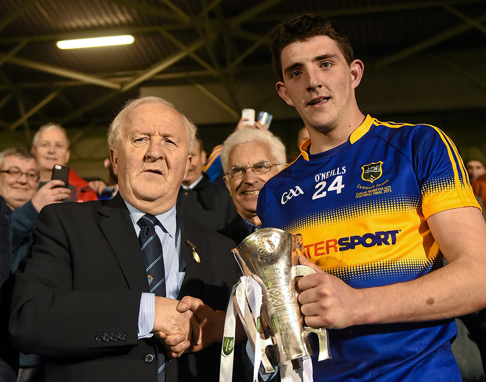 Colin O'Riordan pictured in 2015 when he captained Tipperary to the Munster U21 Gaelic football title. Picture: Sportsfile