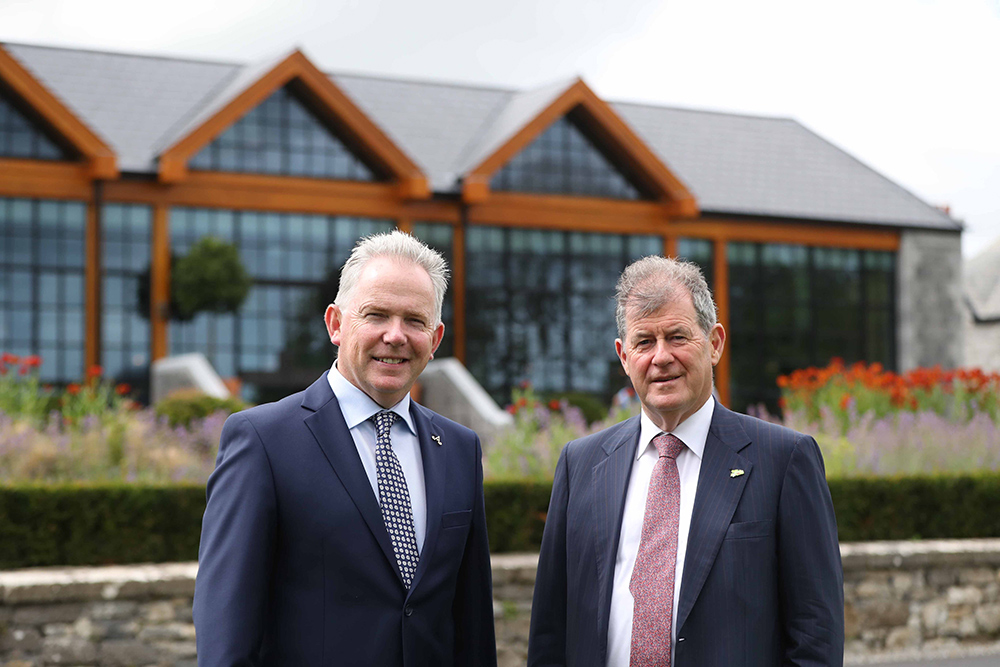 Adare Manor owner JP McManus (right) and general manager Colm Hannon.