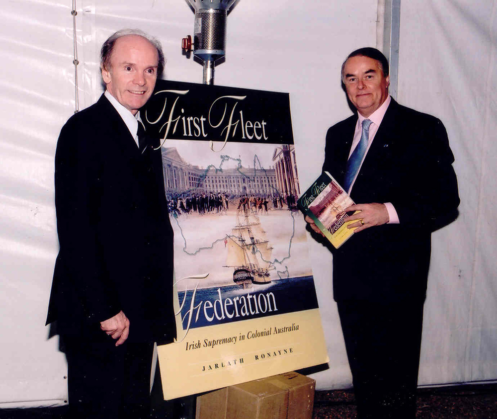 Former Irish Honorary Consul for Melbourne Prof Jarlath Ronayne with former Irish Ambassador Richard O'Brien in 2002.