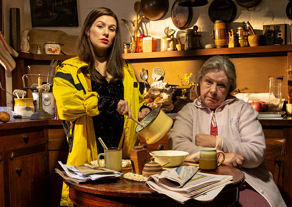 Yael Stone and Noni Hazelhurst star as Maureen Folan and her mother Mag in the forthcoming Sydney Theatre Company production of The Beauty Queen Of Leenane. Picture; Rene Vaile
