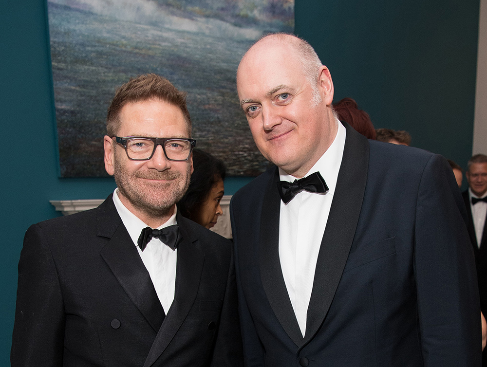 Ó Briain with actor Kenneth Branagh at an Embassy of Ireland function in London. Picture: Jeff Spicer
