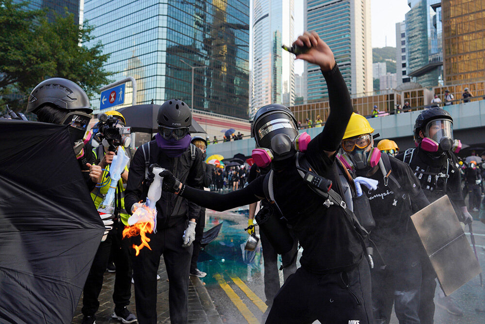 The pro democracy protests in Hong Kong, which have involved hundreds of thousands of people, have taken a toll on visitor numbers to the city. Picture: Vincent Yu