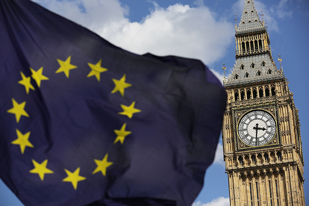 Britain is scheduled to leave the European Union on October 31.