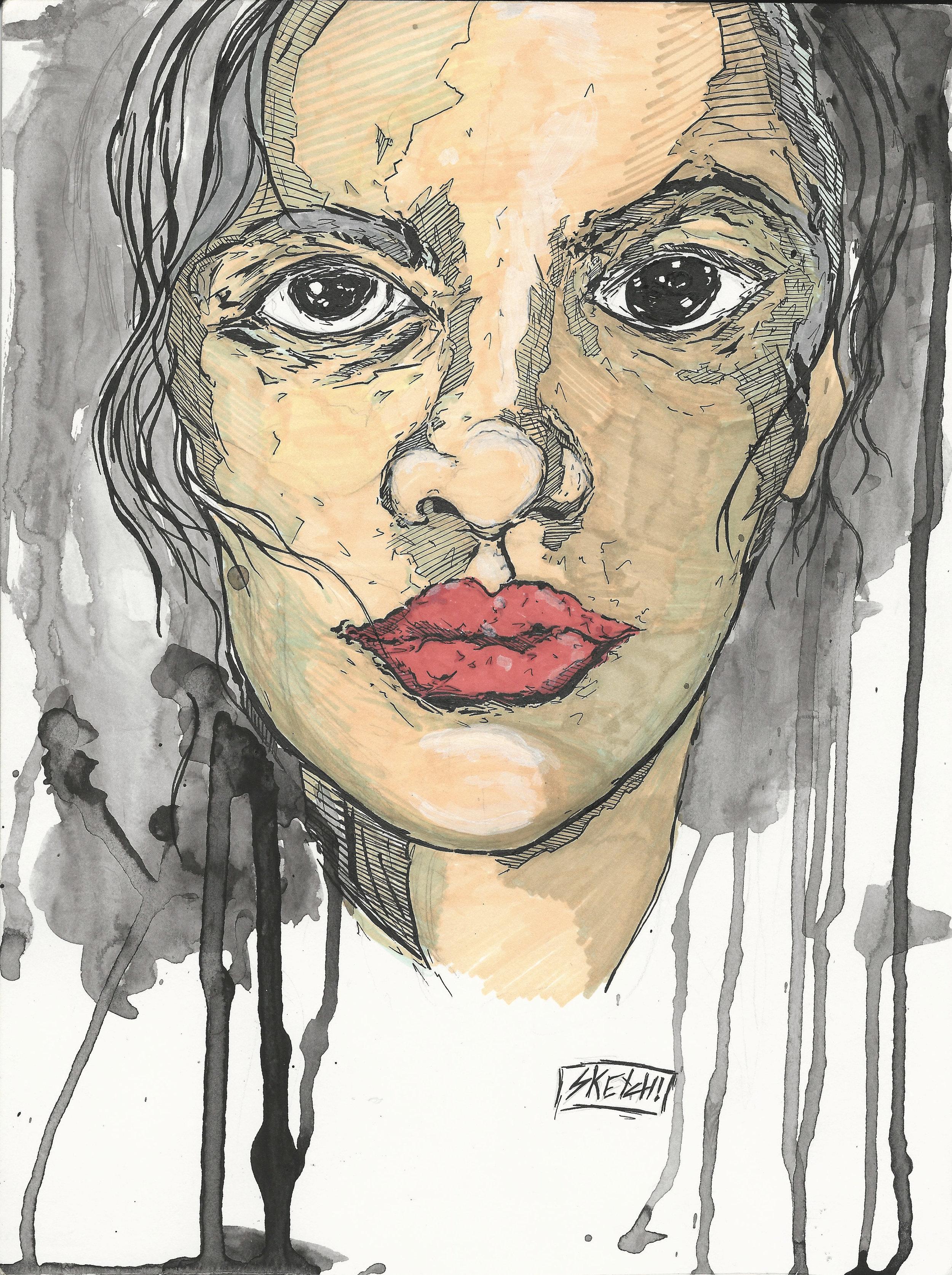 "Jon ""Sketch"" Achelpohl – She Has Fight – $200"