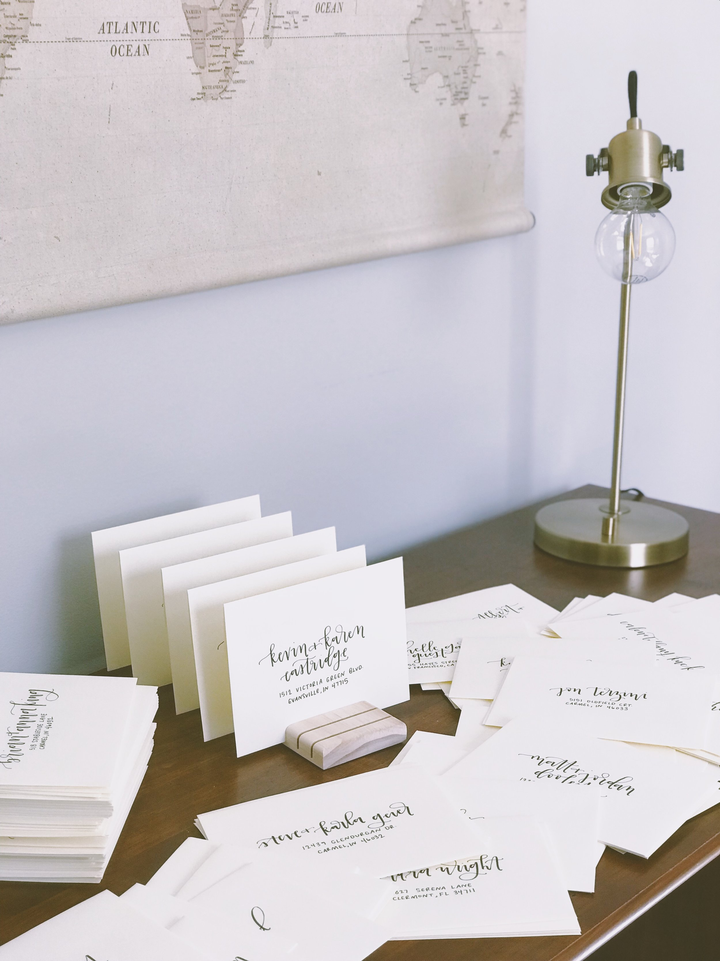 handwritten invitations