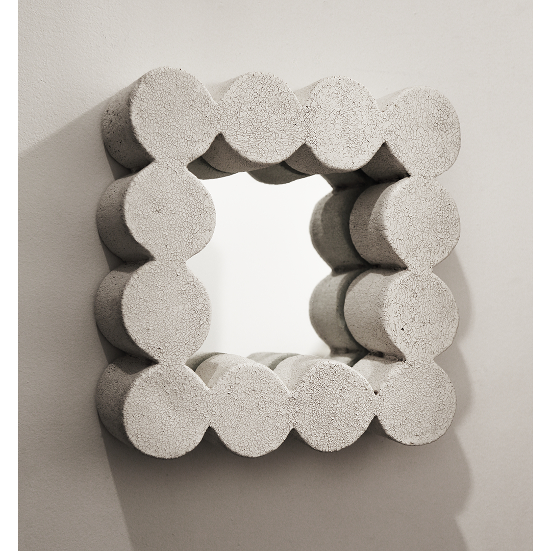 Scalloped Mirror (Square)