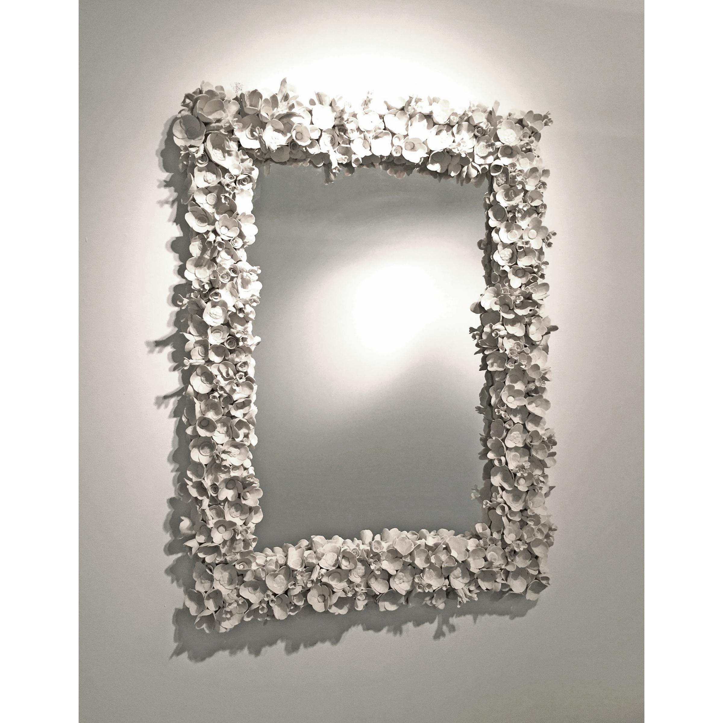Flower Collage Mirror