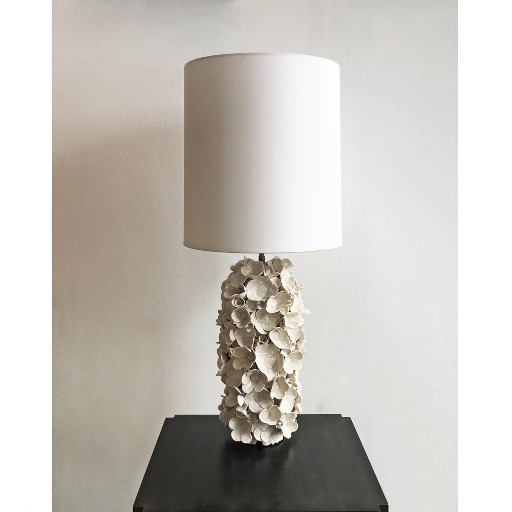 Flower Collage Lamp Base
