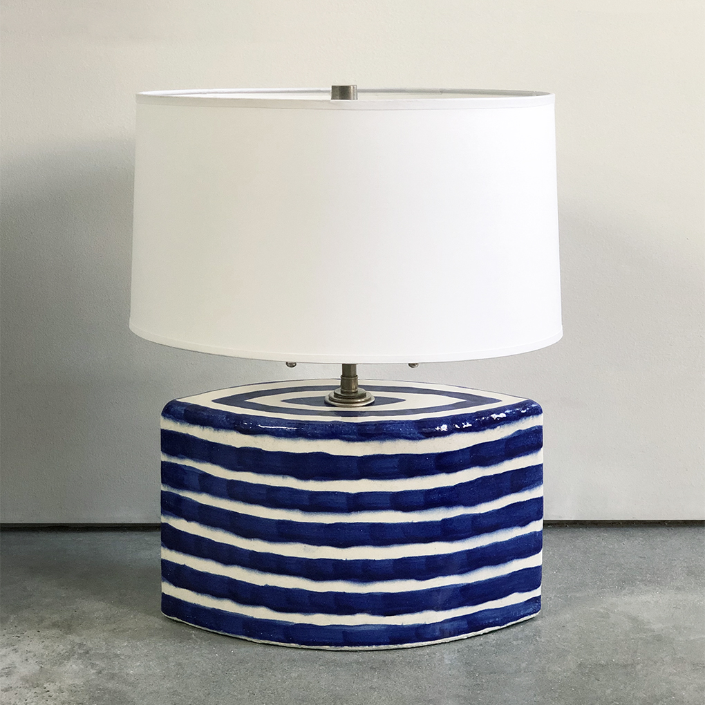 Striped Lamp Base