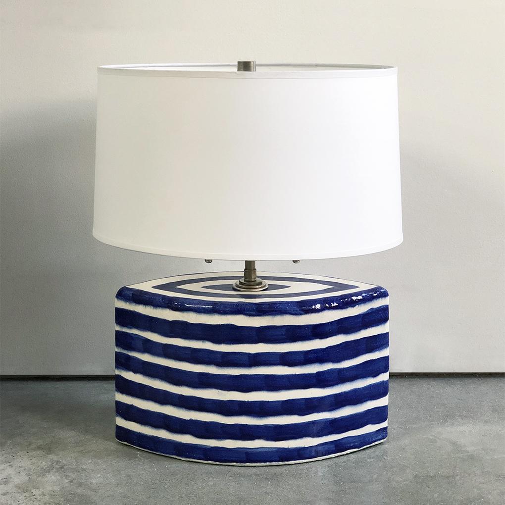 Striped Lamp Base