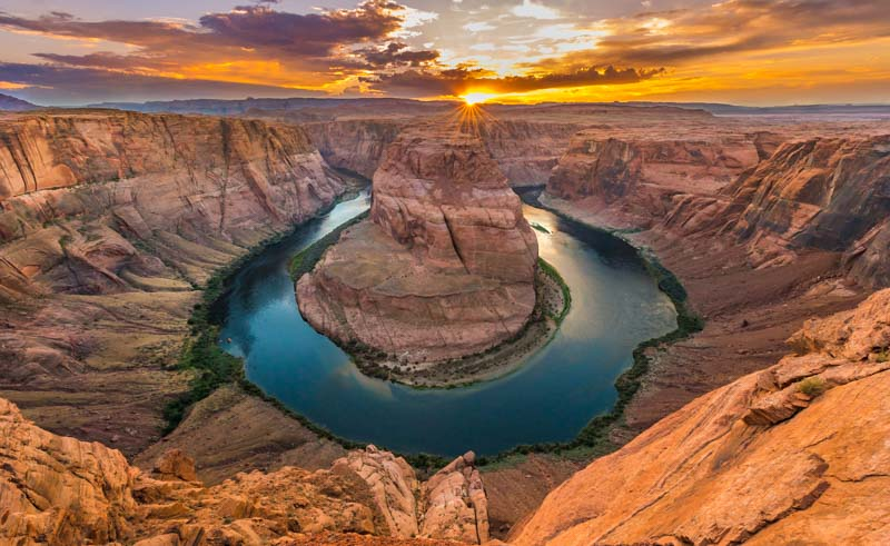 Bird's eye view of Horseshoe Bend overlook