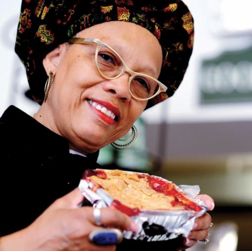 AUNT FLORA'S - We are known for our delicious cobbler pie, cake, and comfort foods.Aunt Flora's has been around in Cincinnati since 1999, she has been featured nationally on Martha Steward Show as well as Oprah Winfrey Show. All of our recipes are from our aunt, the original Flora Saunders who travelled the country in the 1940s as Aunt Jemima.