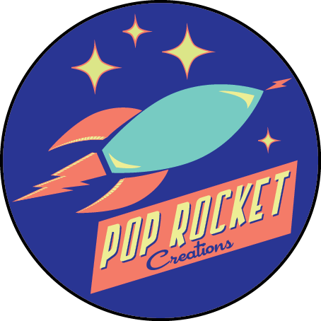 POP ROCKET CREATIONS - As a photo and design team, we combine our skills on creative projects. We're inspired by a wide range of pop culture, including various genres of music and movies, retro advertising, vintage signs and typography, and iconic eras in history.