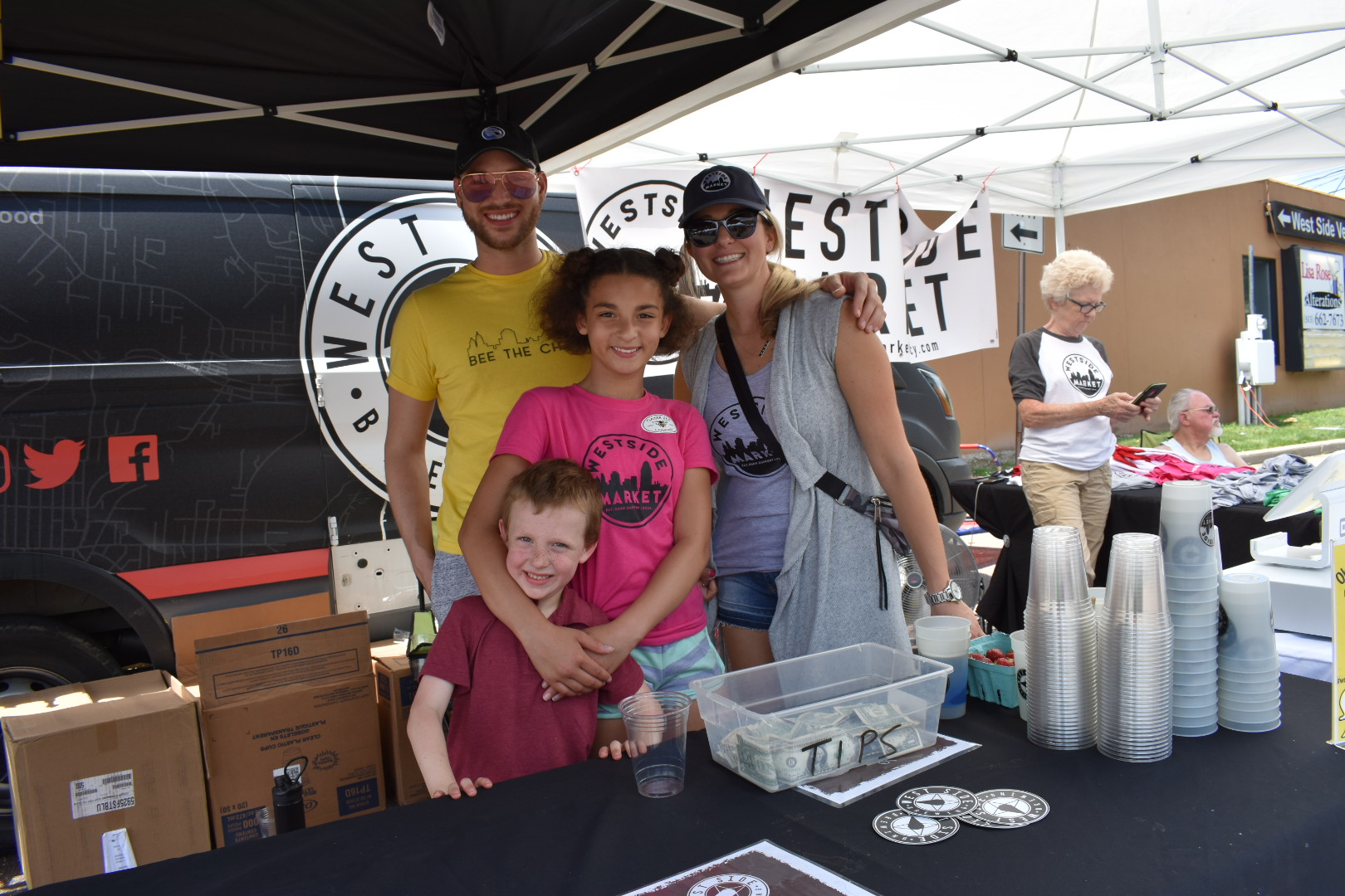 Amber, Logan & Ada - Market Volunteers - We have some amazing friends that volunteer their time on market day to help support local businesses and our community.