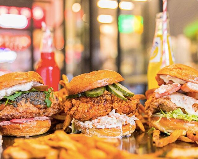 Busy, lazy or hung over this Sunday? 😉 Our chicken sandwiches are good to go through @UberEats. 🍗🐔🐓