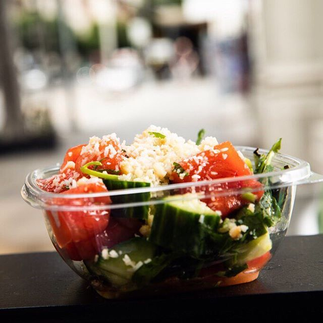 Because it's an endless summer in LA. Watermelon salad with lime, mint, macadamia nuts, cilantro, thai basil, coconut & arbequina olive oil. 🍉