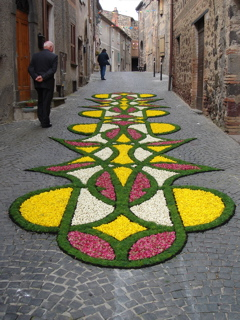 The Infiorita -- flower carpets