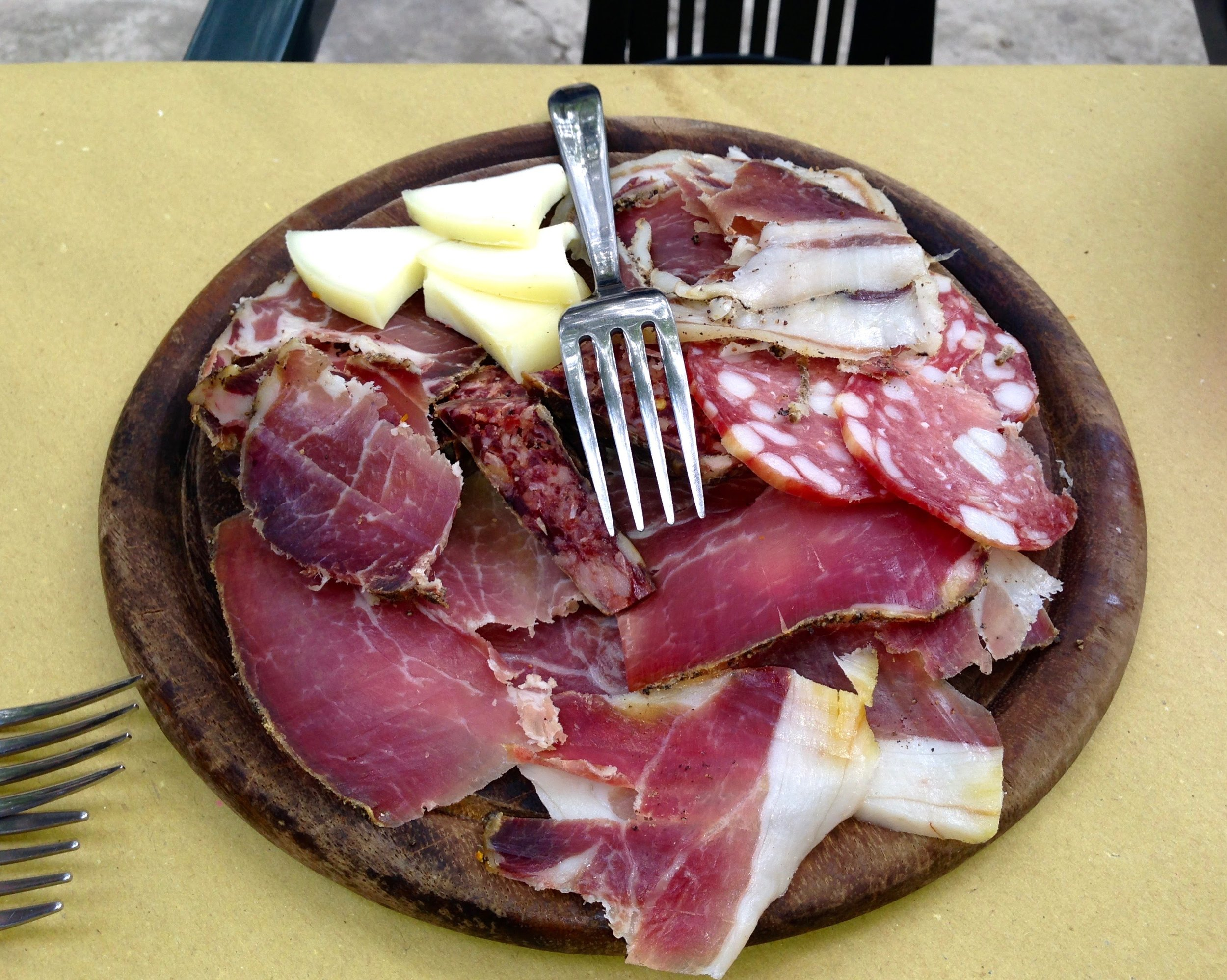 Antipasto at a nearby restaurant