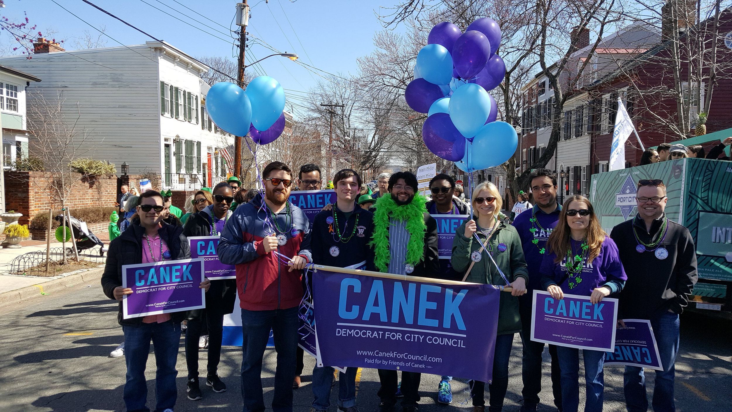 #TeamCanek at the St. Patrick's Day Parade.