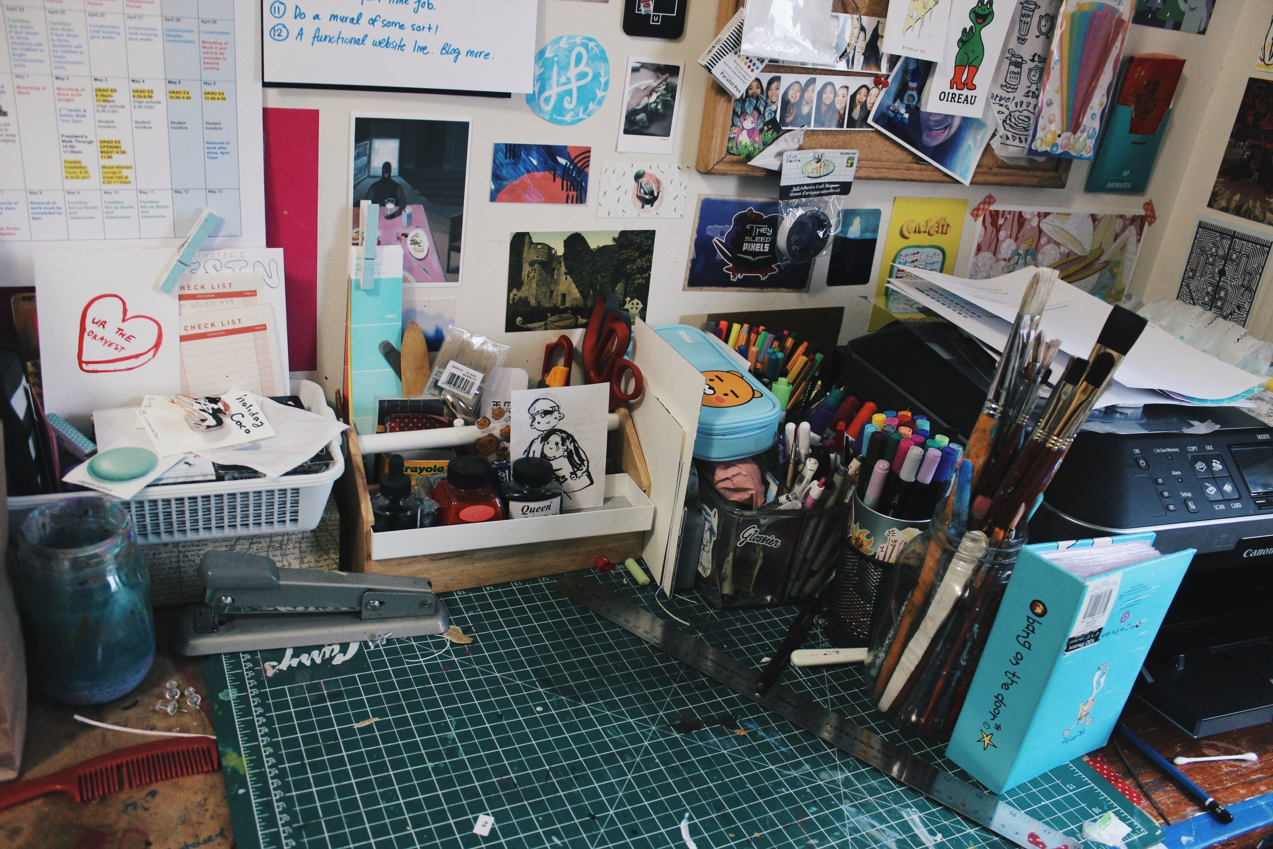 The empty space without anything on it? That's the actual workspace HA HA HA.