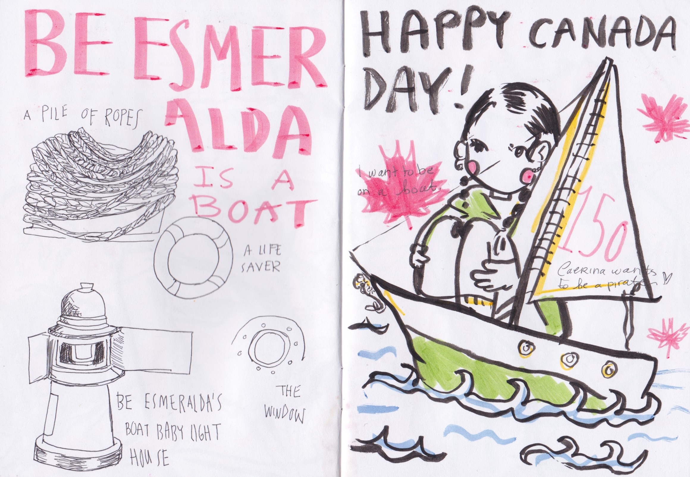 Canada Day doodle at the Halifax Seaport Farmer's Market.