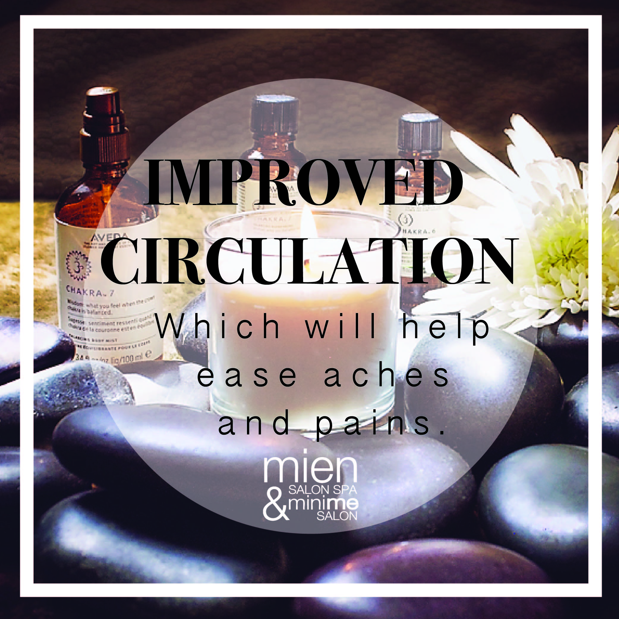 - Poor circulation can lead to fatigue. This tenses up your muscles and causes build-up of fluid and lactic acid in the muscles. Increased circulation will deliver more oxygen to the muscles.
