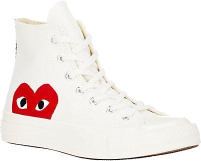 Comme Des Garçons Play  Women's Chuck Taylor 1970s High-Top Sneakers - $125