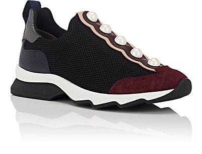 Fendi  Imitation-Pearl-Embellished Slip-On Sneakers - $700
