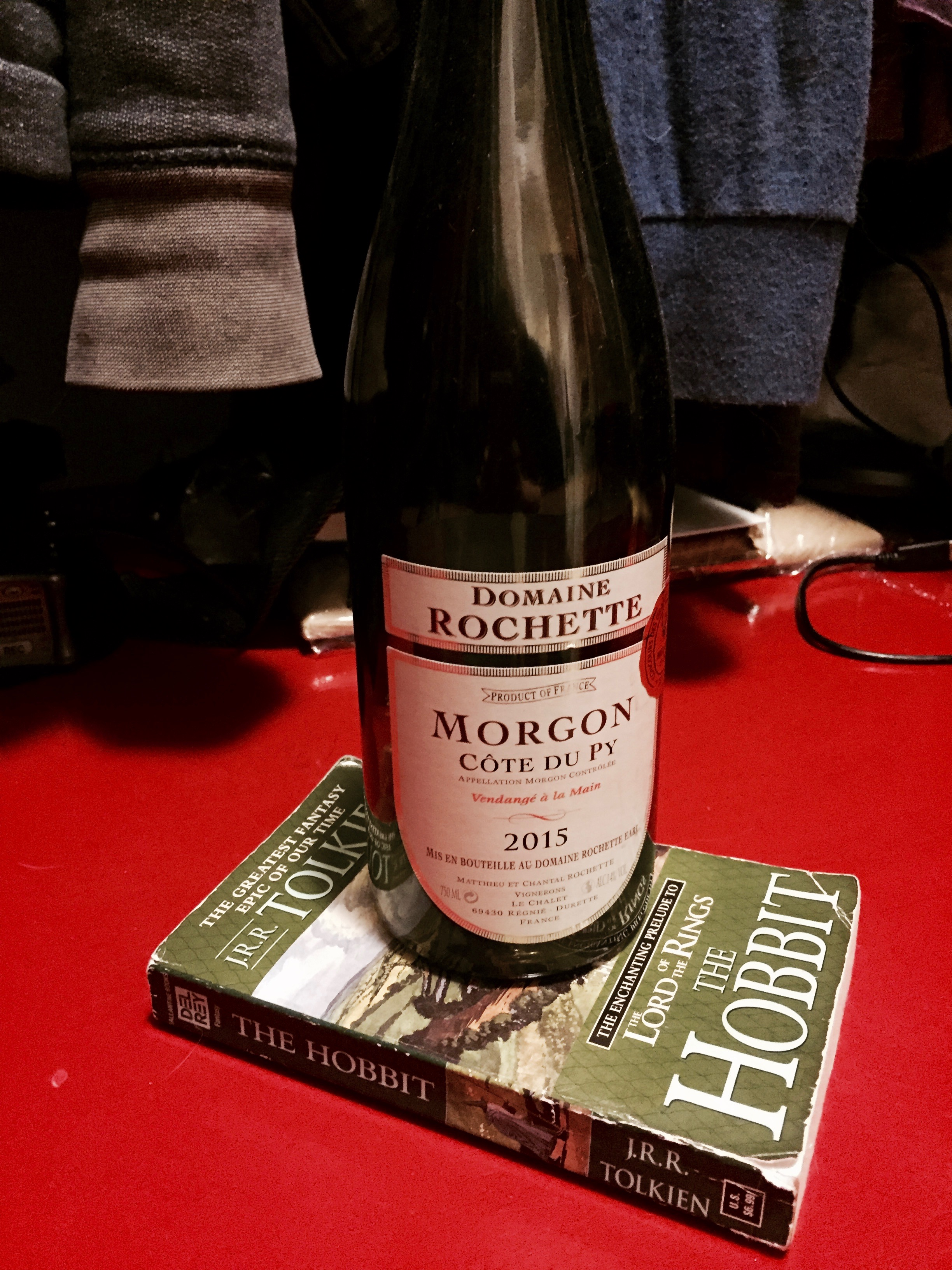 The Hobbit  and 2015 Domaine Rochette Morgon Côte du Py