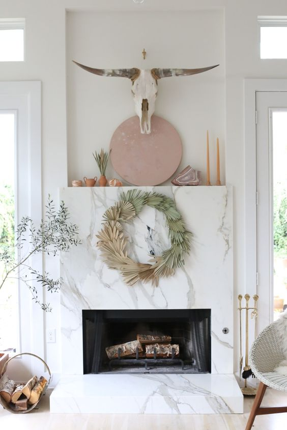 DIY Palm Wreath via  Domino