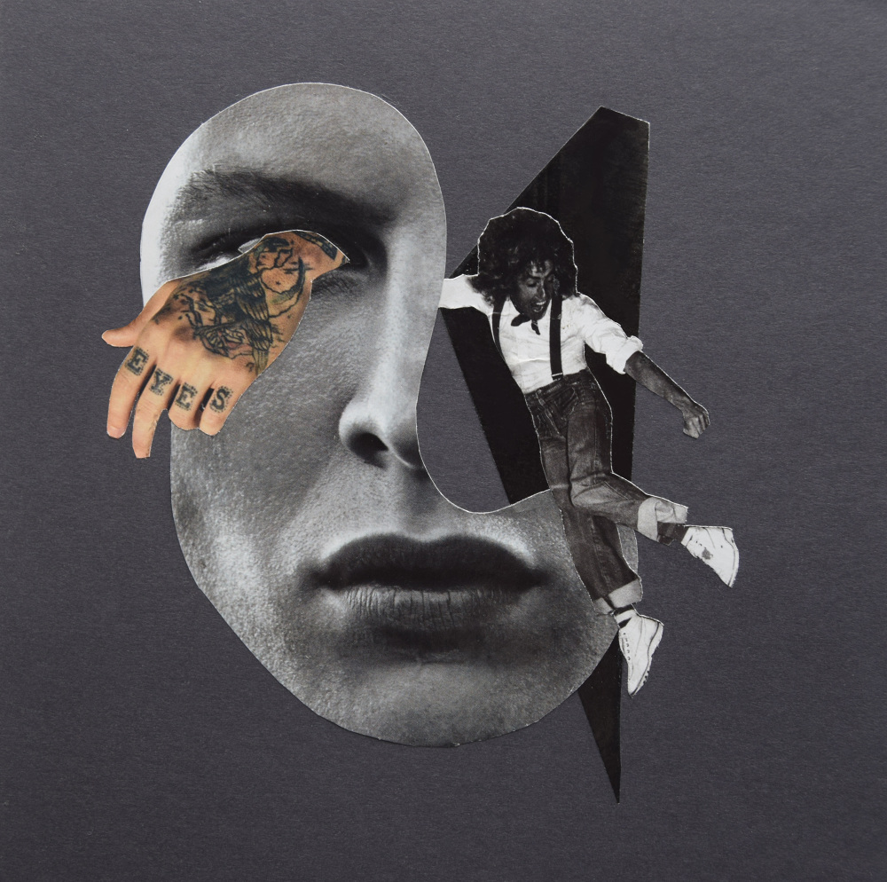 Eye of the beholder  Hand Cut Paper Collage