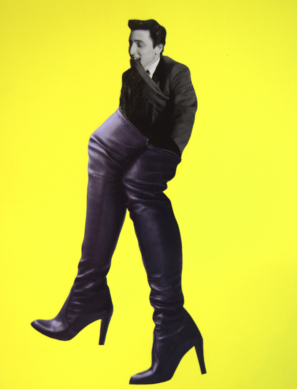 These boots are made for walking  Hand Cut Paper Collage