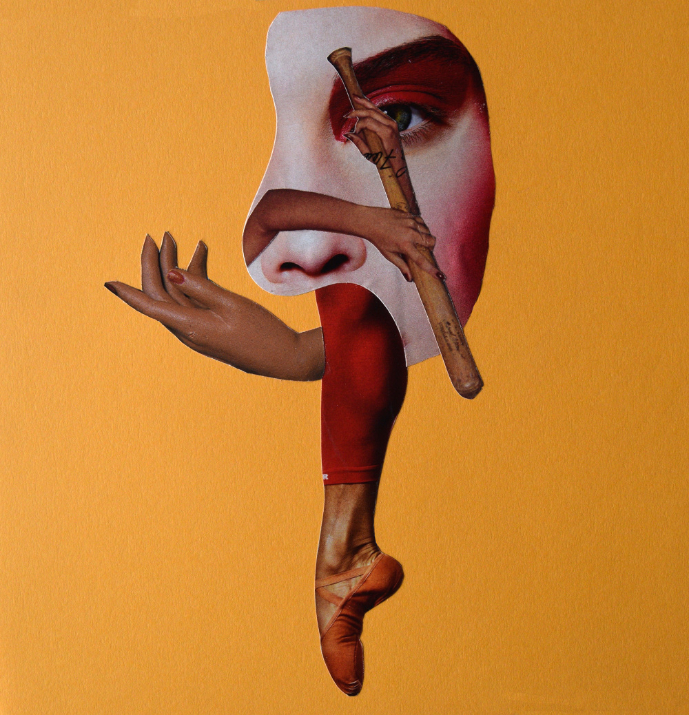 Untitled  Hand Cut Paper Collage