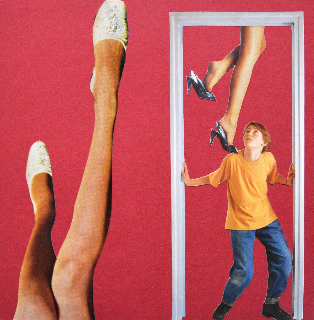 Legs for days  Hand Cut Paper Collage