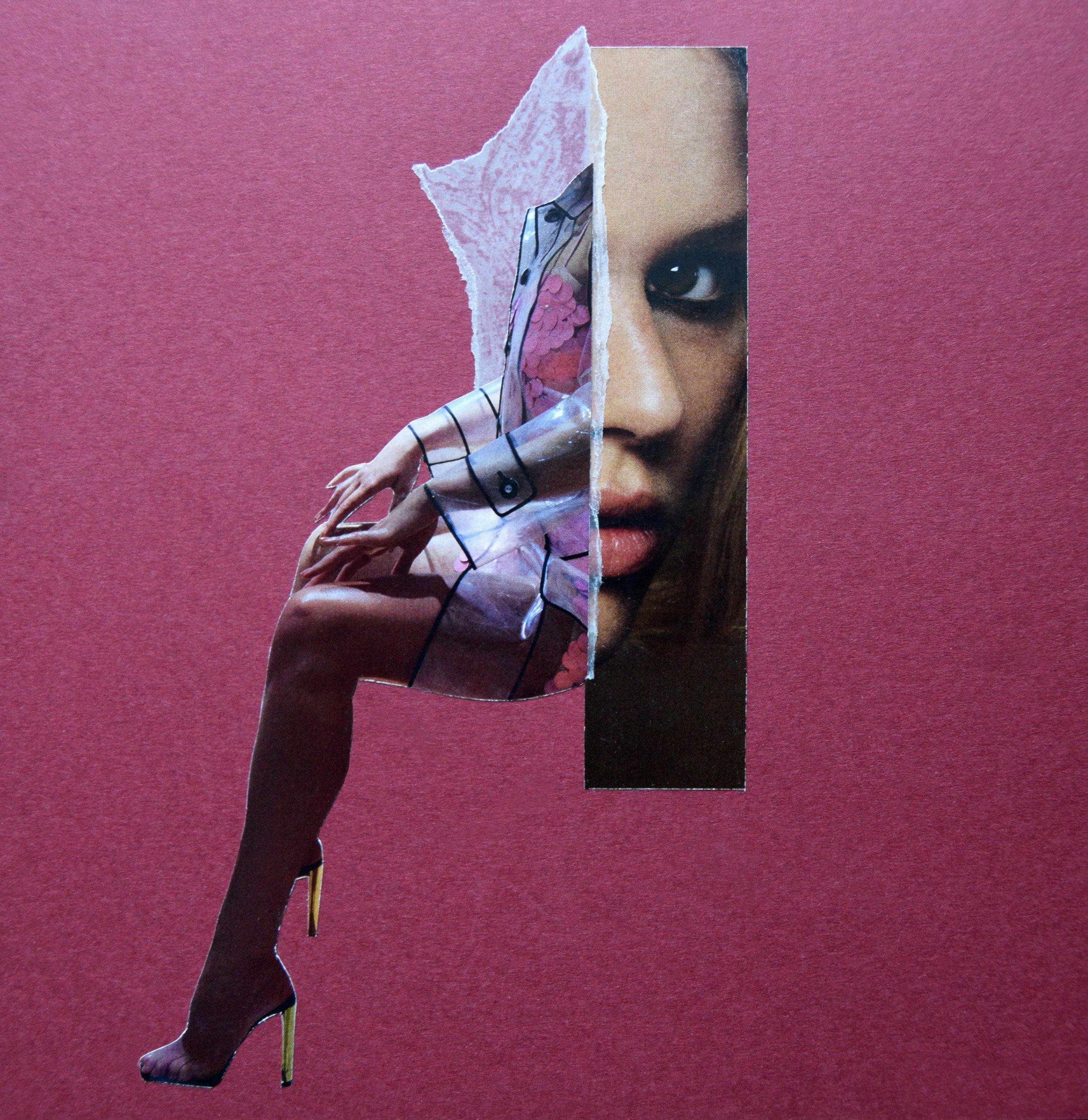 A MIU MUI Moment  Hand Cut Paper Collage