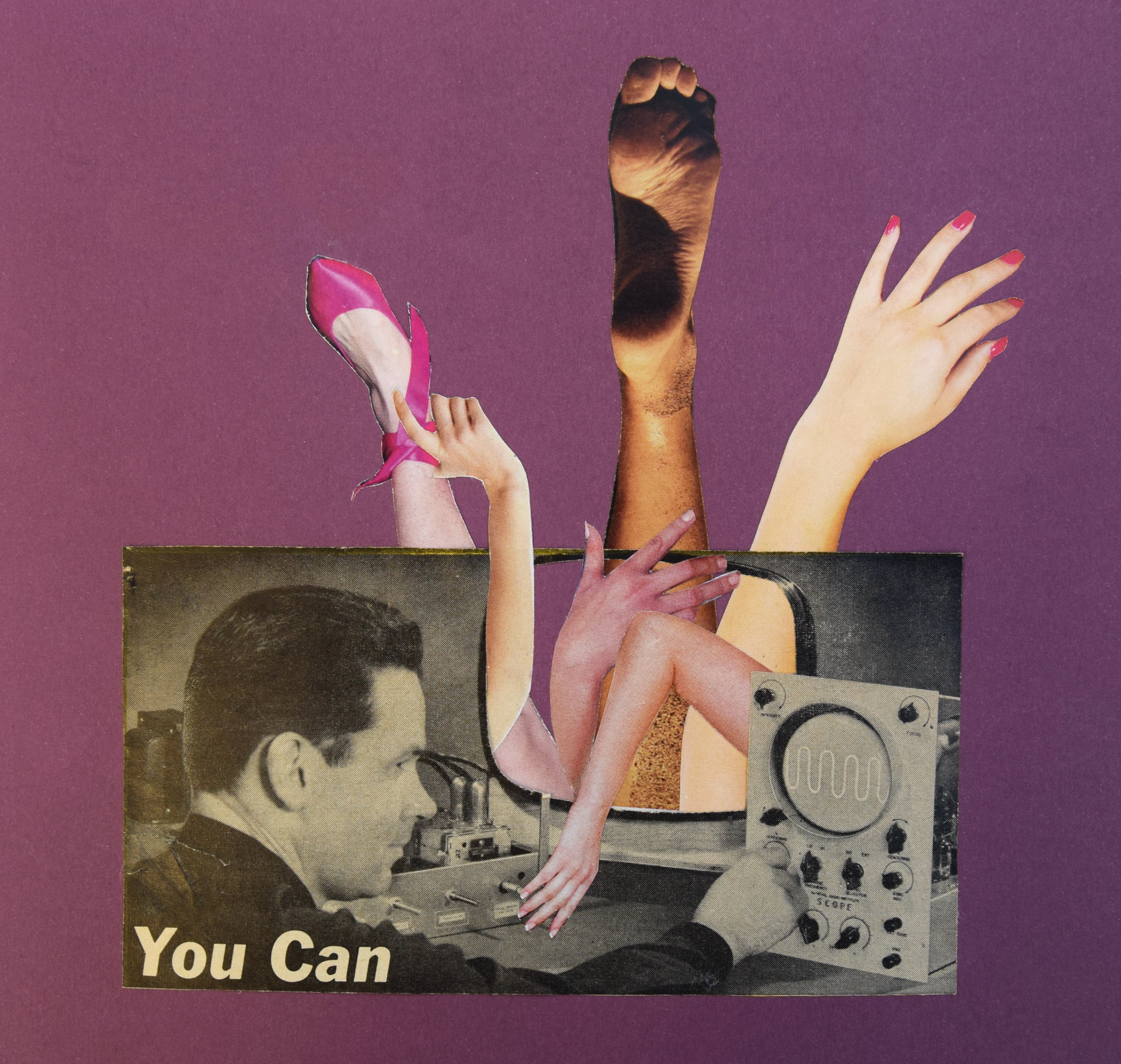 MTV  Hand Cut Paper Collage