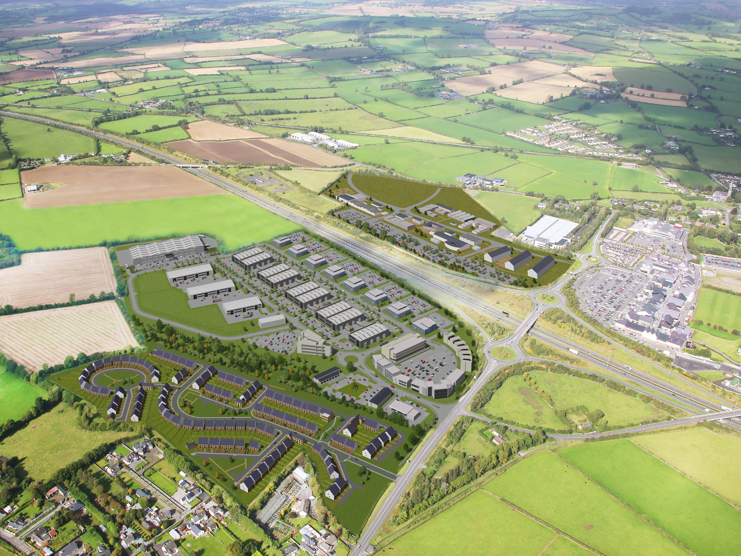 Kildare Crossings - 2015 to PresentAn ambitious mixed-use development in Kildare adjacent to Kildare Village and Kildare Town.