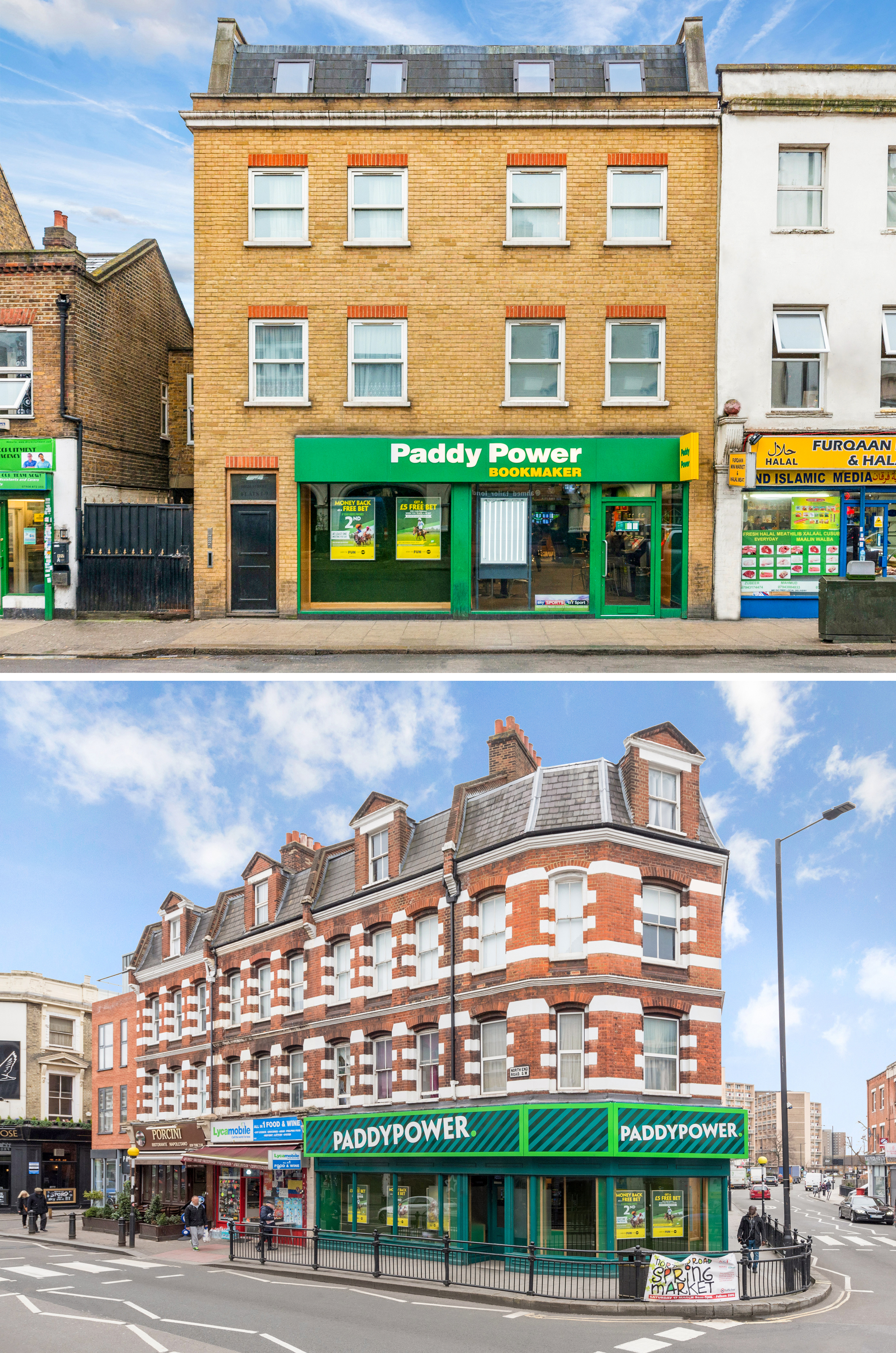 Paddy Power PLC - 2001 to 2005We acquired and redeveloped over 50 Paddy Power retail units in the UK over a four year period.