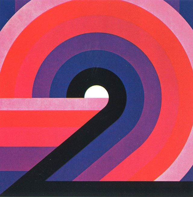 These fabulous retro numbers are attributed to Otto Rieger, 1978. They are stunning! #type #typography #FontSunday
